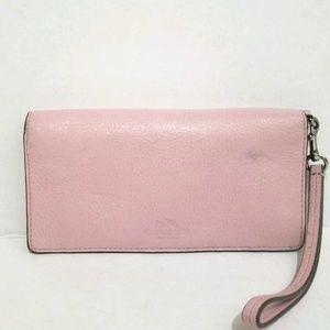 COACH Pink Leather Wallet/ Wristlet